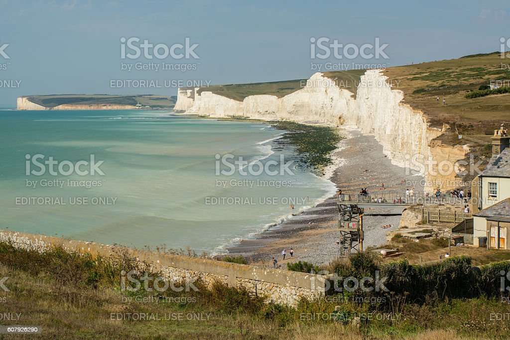 Birling Gap in East Sussex, England stock photo