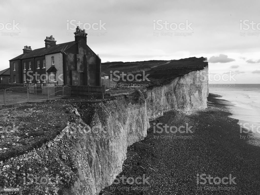 Birling Gap, South Downs National Park, East Sussex stock photo
