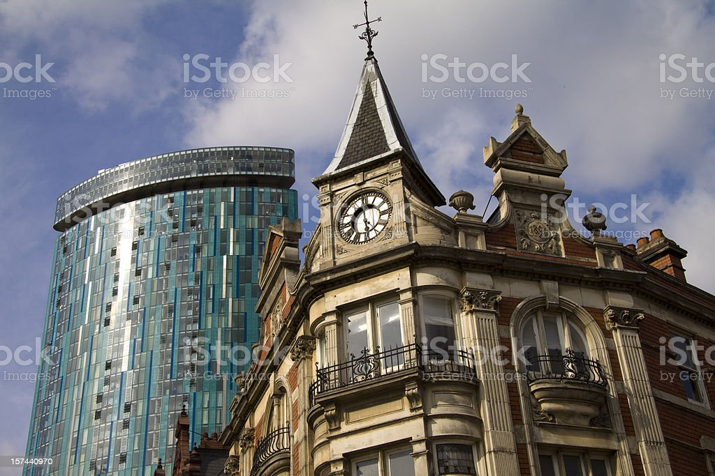 Birmingham Architecture: Old and New royalty-free stock photo