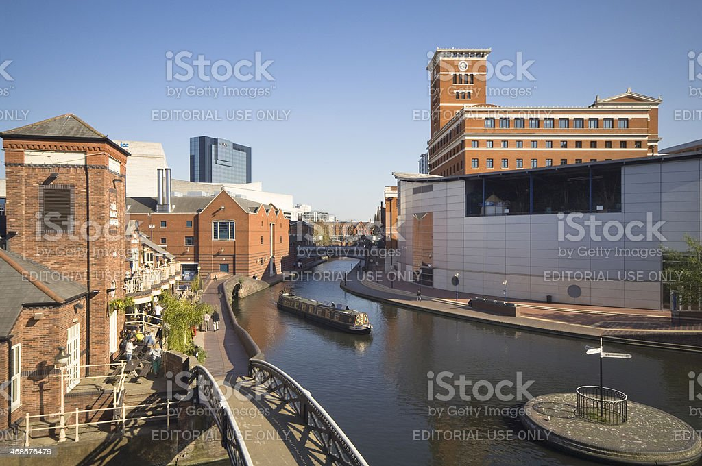 Birmingham Centre Canalside Developments stock photo