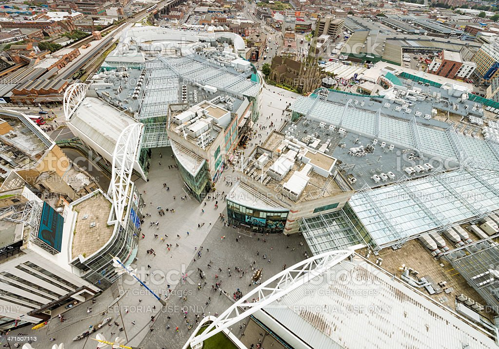 Birmingham City Centre From Above royalty-free stock photo