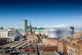 Birmingham city centre, Rotunda, Bull Ring, Selfridges, Market.