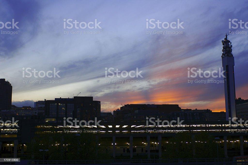 Birmingham City Skyline royalty-free stock photo
