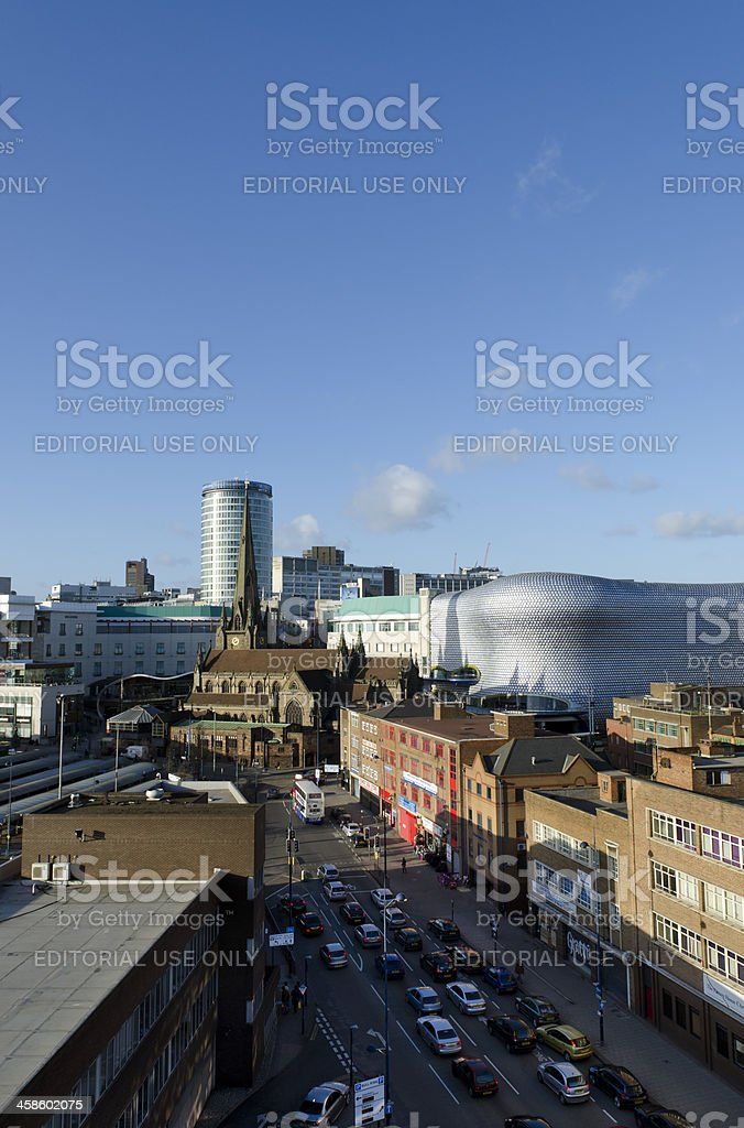 Birmingham cityscape royalty-free stock photo