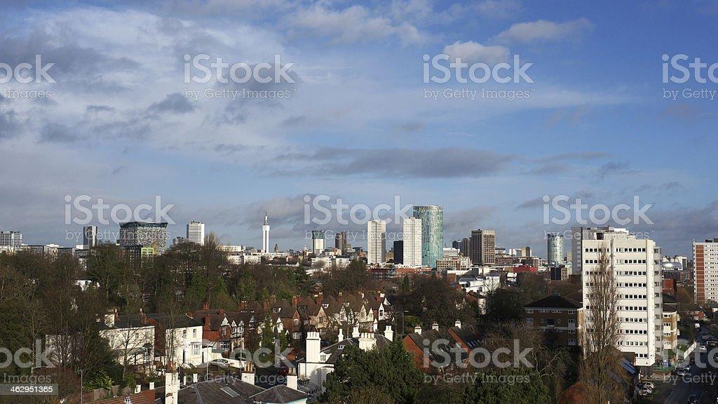 Birmingham, England city centre skyline. stock photo