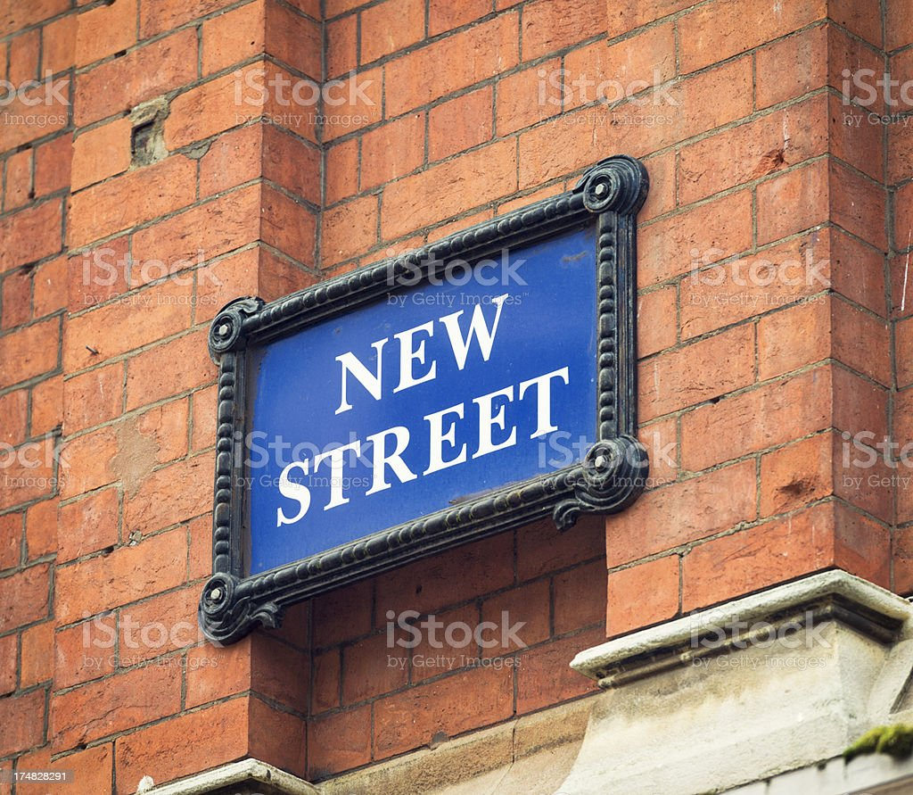 Birmingham: New Street Sign royalty-free stock photo