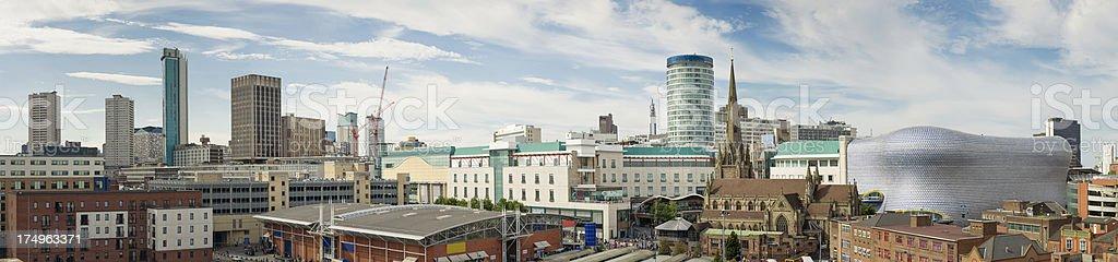 Birmingham Skyline Panorama royalty-free stock photo