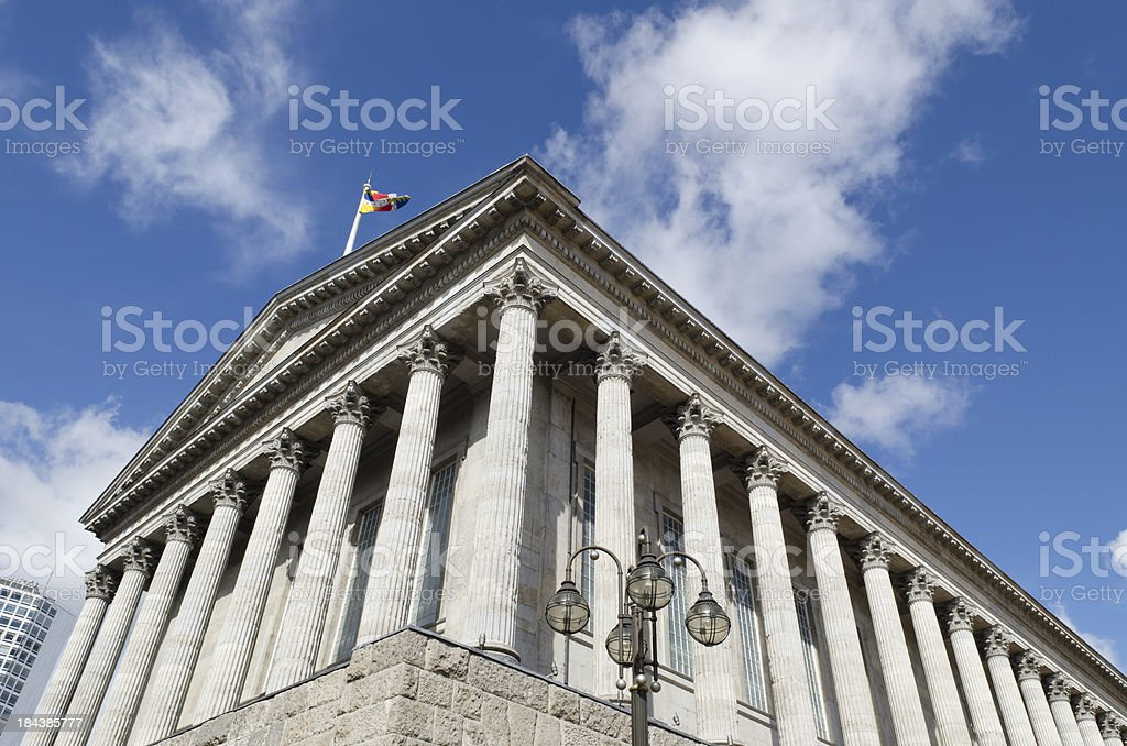 Birmingham Town Hall, Midlands royalty-free stock photo
