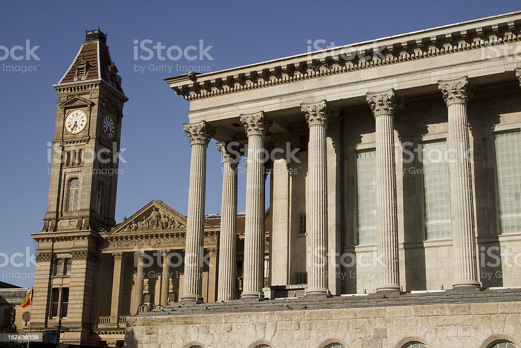 Birmingham Town Hall royalty-free stock photo