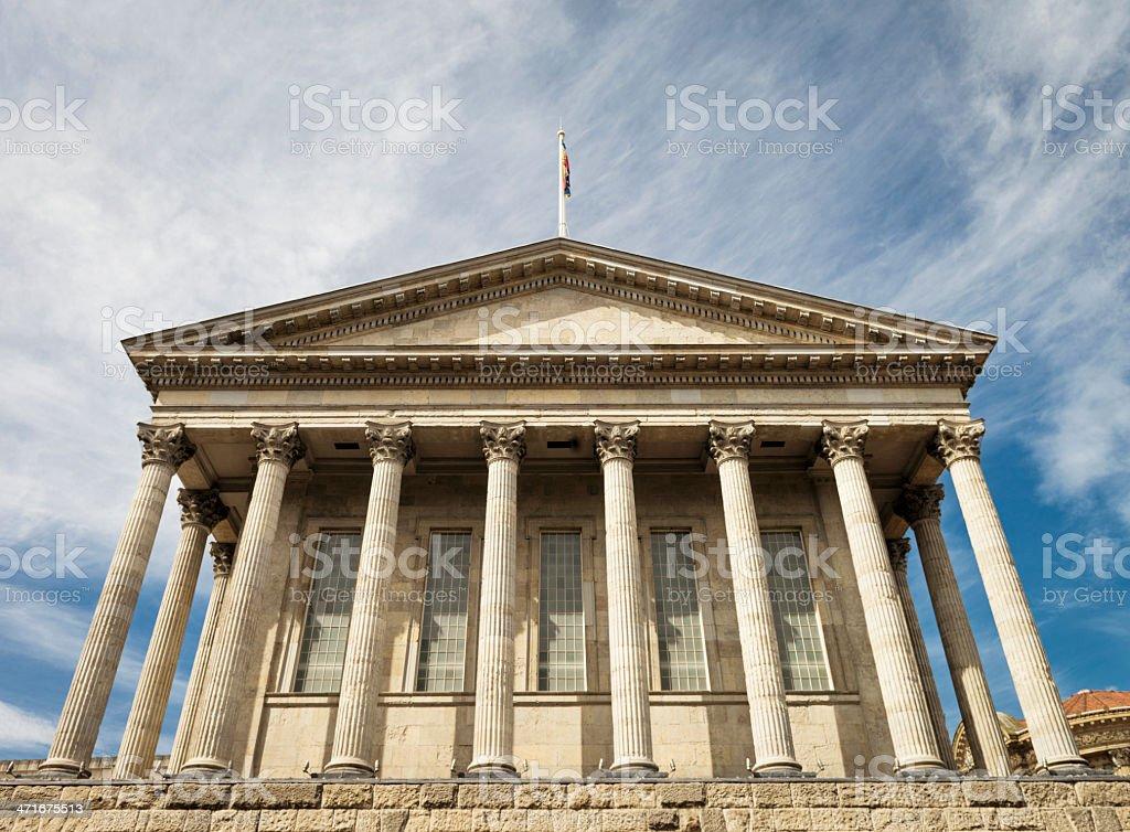 Birmingham Town Hall royalty-free stock photo