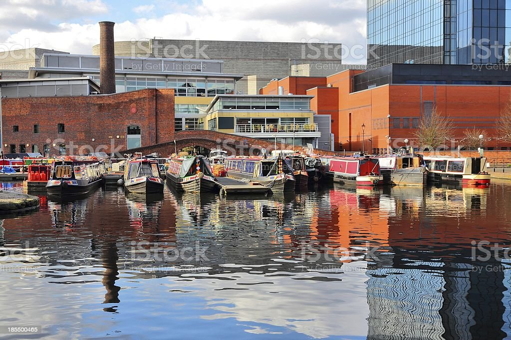 Birmingham waterway royalty-free stock photo