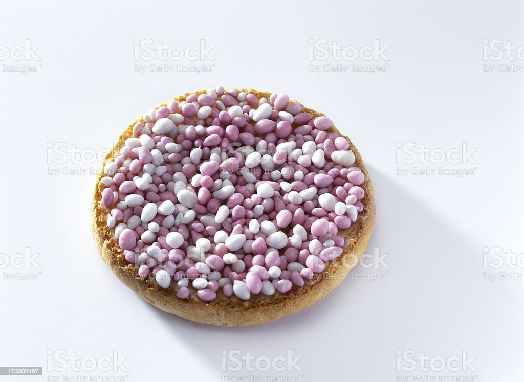 birth biscuit with traditional Dutch topping royalty-free stock photo
