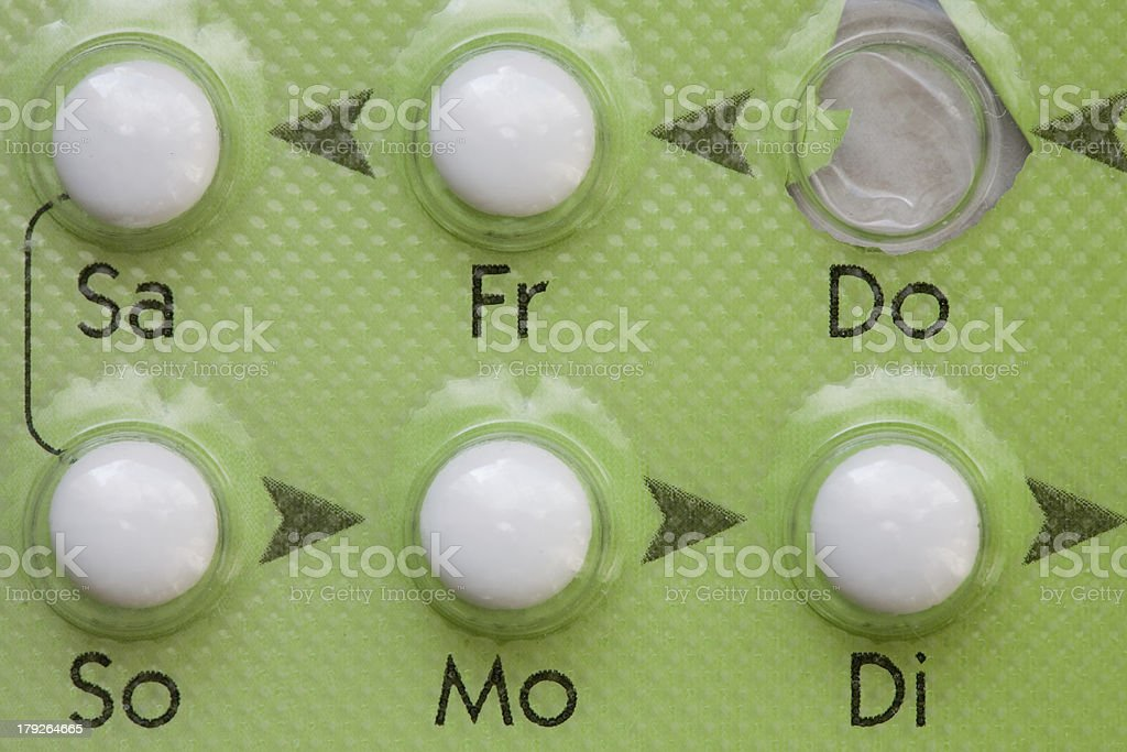 Birth Control Pill royalty-free stock photo