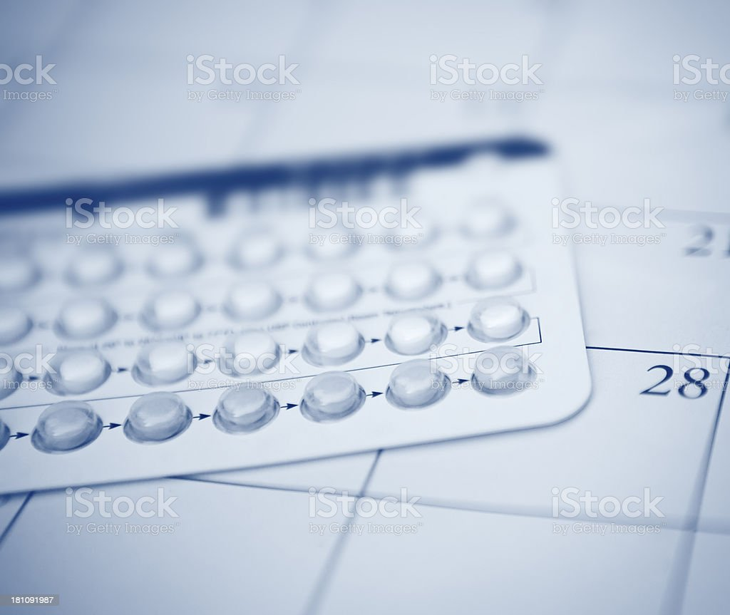 Birth Control Pills Close Up stock photo