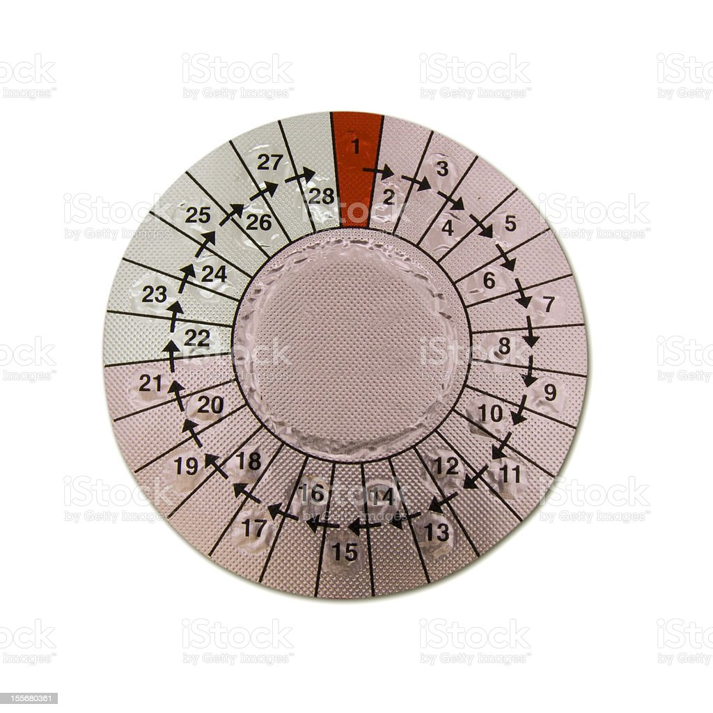 Birth Control Pills royalty-free stock photo