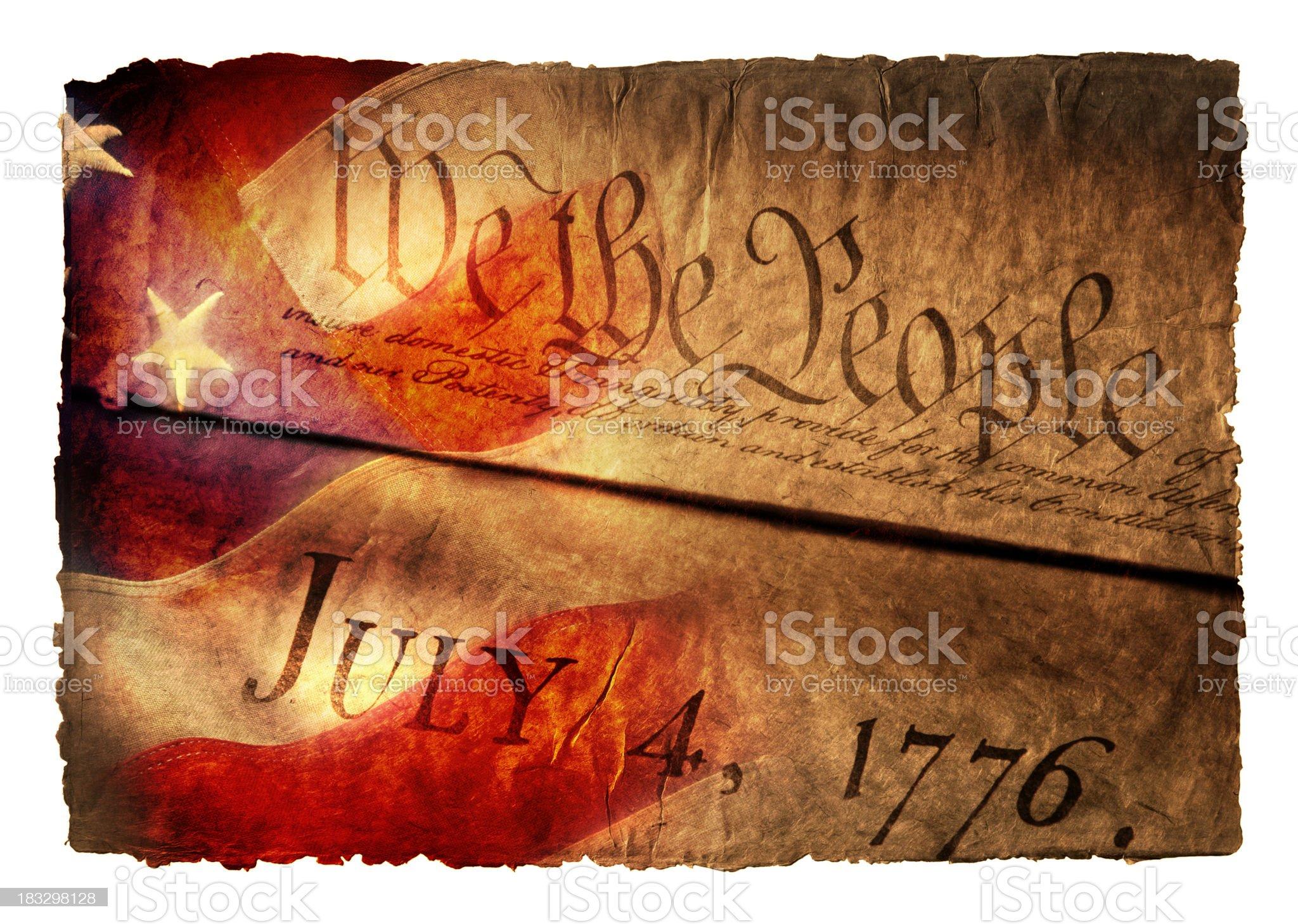 Birth of America royalty-free stock photo