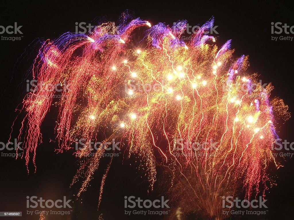 Birth of The Phoenix.  Legendary Firework stock photo
