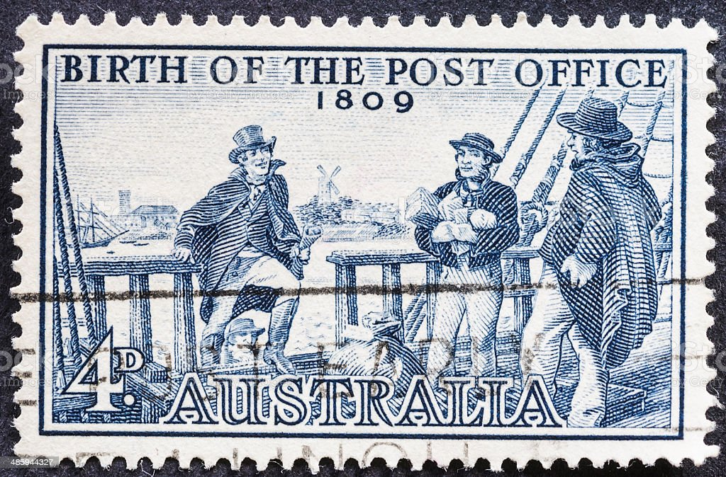 Birth of the post office (1809) stock photo