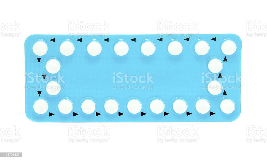 birthcontrol pills royalty-free stock photo