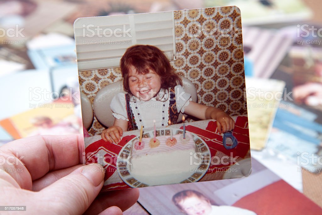 Birthday 1970's Photograph stock photo