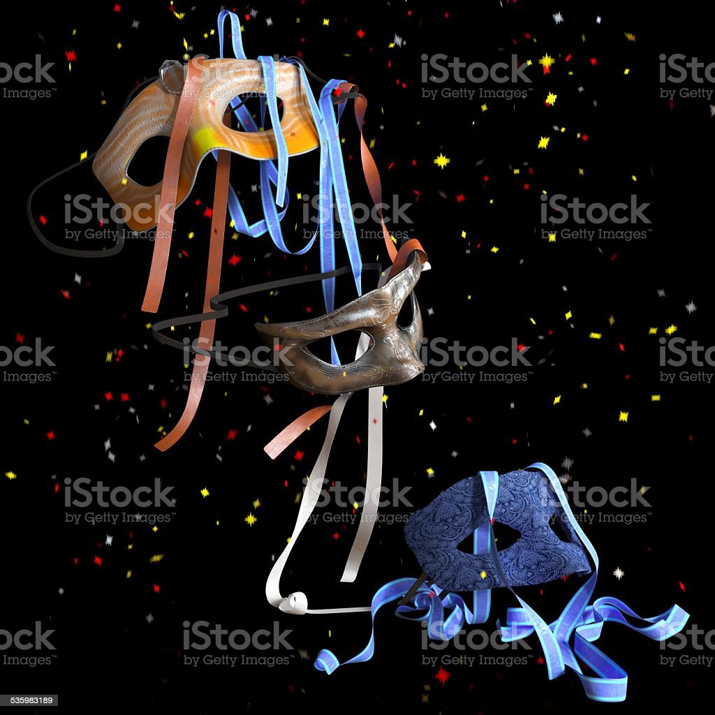 birthday and holiday decorative background stock photo