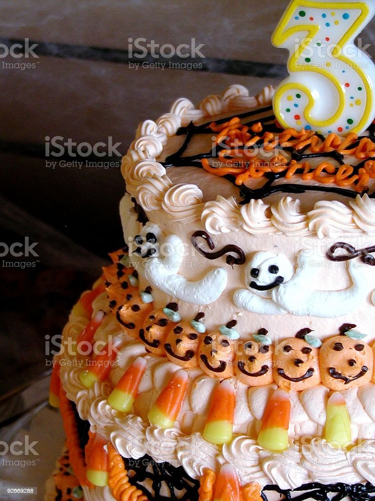 Birthday Cake 3 Haloween royalty-free stock photo