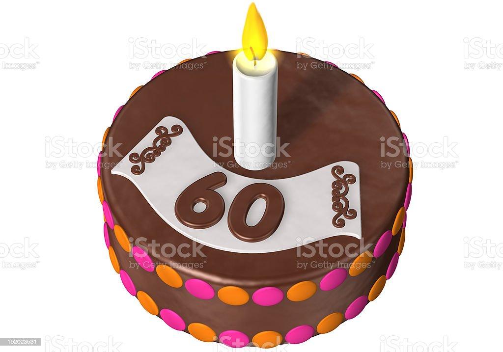 birthday cake 60 royalty-free stock photo