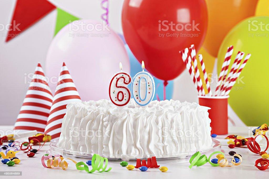 Birthday Cake And Decoration stock photo