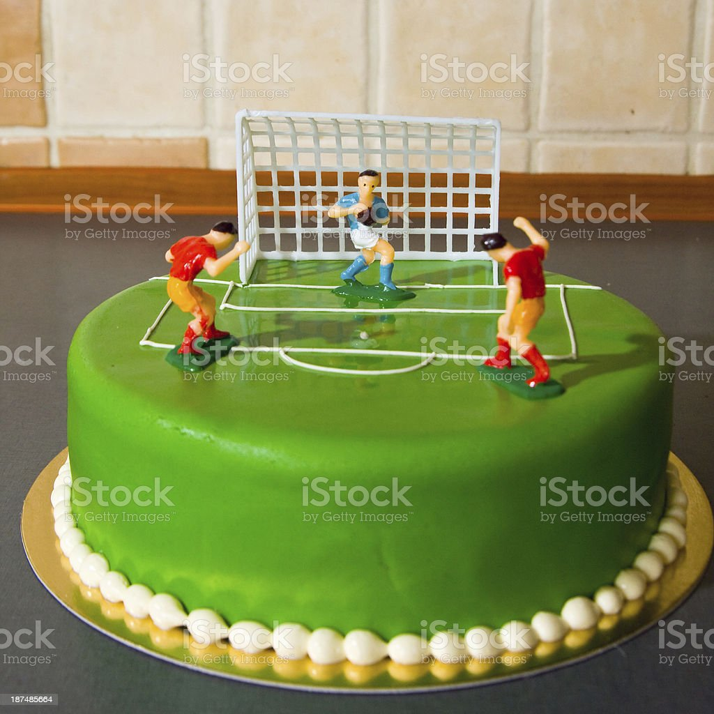 birthday cake for a child stock photo