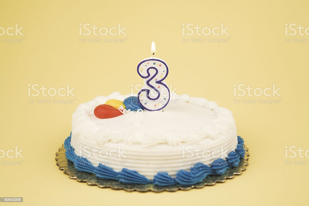 Birthday Cake Number Series (3) royalty-free stock photo