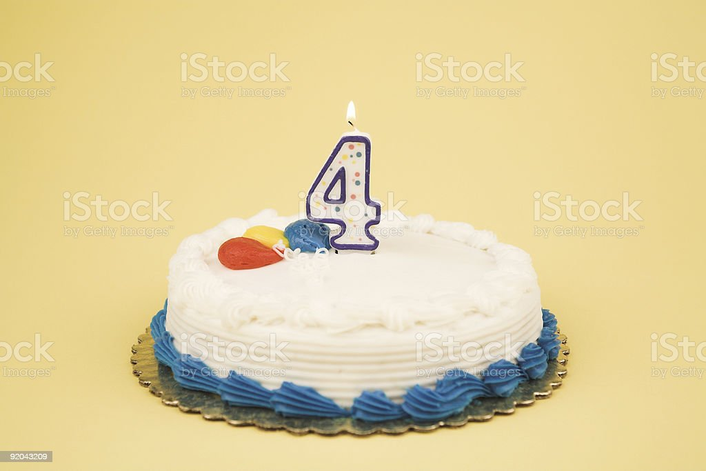 Birthday Cake Number Series (4) royalty-free stock photo