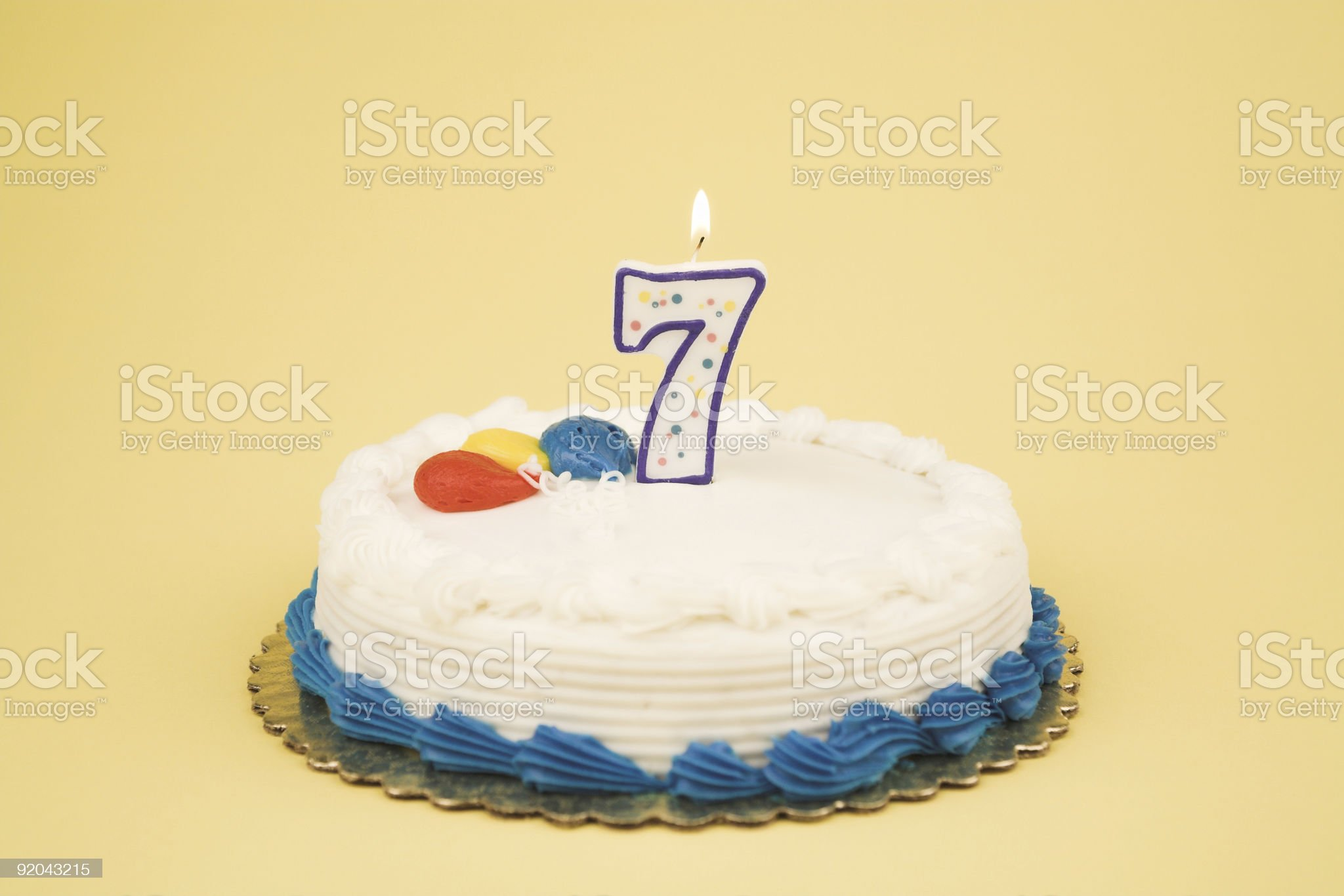 Birthday Cake Number Series (7) royalty-free stock photo