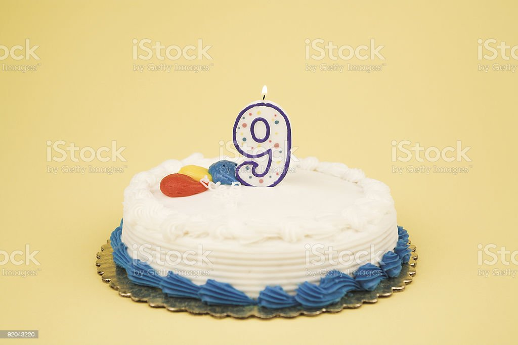 Birthday Cake Number Series (9) royalty-free stock photo