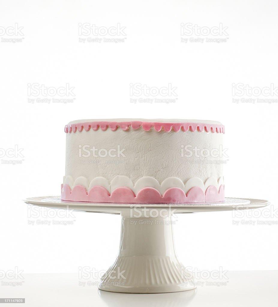 birthday cake on cakestand stock photo