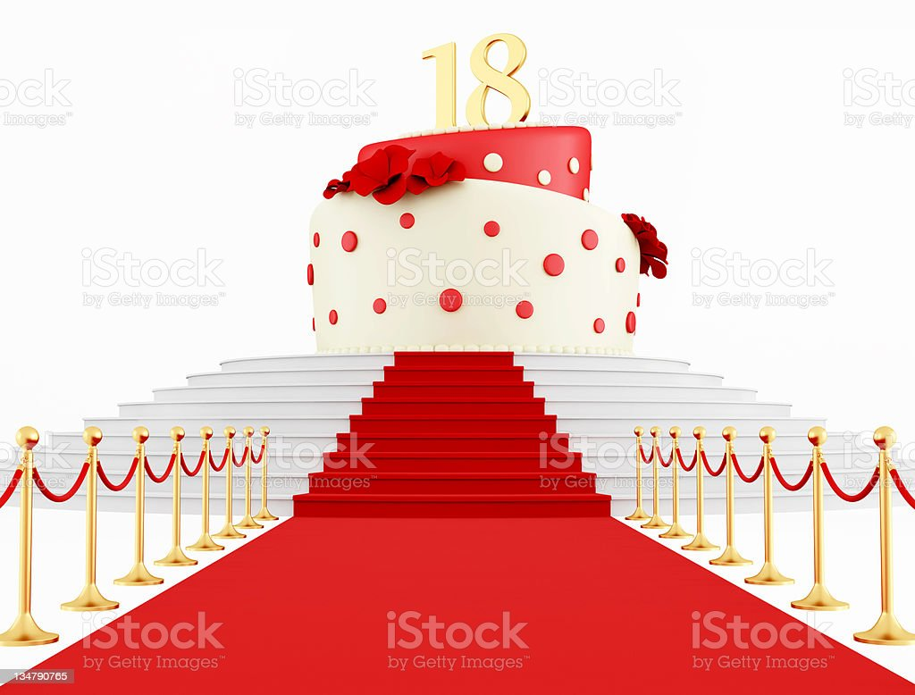 Birthday cake on the top royalty-free stock photo
