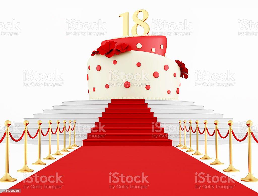 Birthday cake on the top stock photo