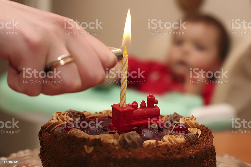 Birthday cake. royalty-free stock photo