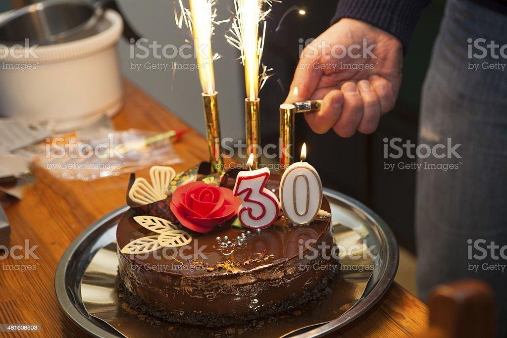 Birthday cake, stock photo