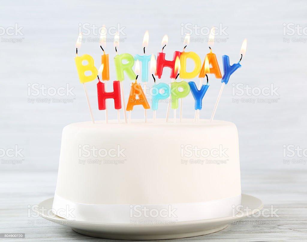 birthday cake stock photo