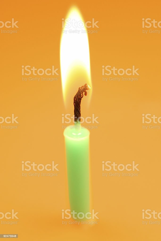Birthday Candle royalty-free stock photo