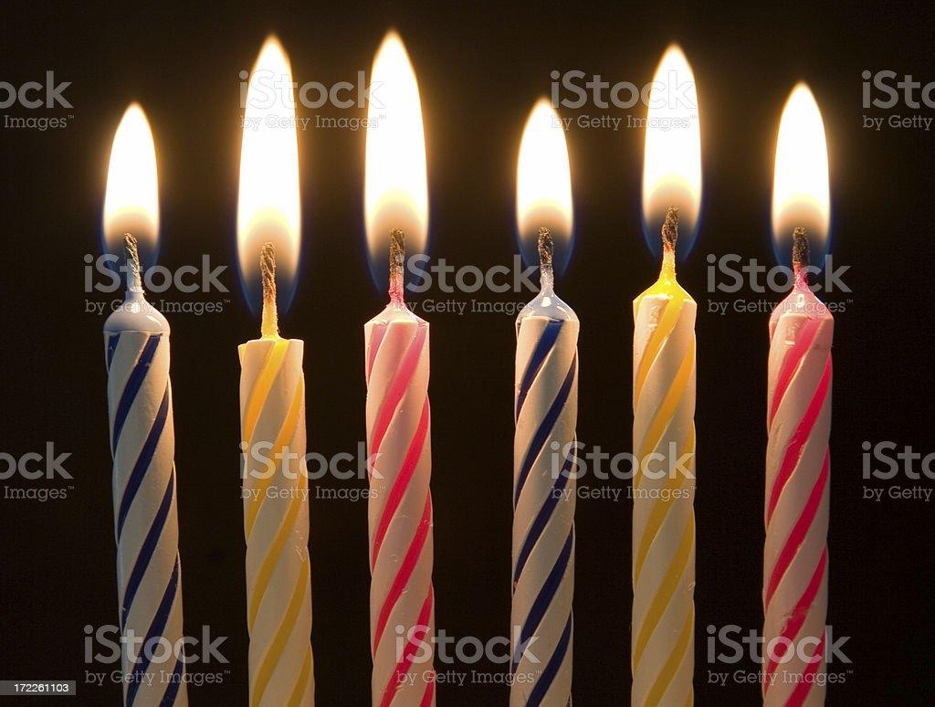 Birthday candles 1 royalty-free stock photo