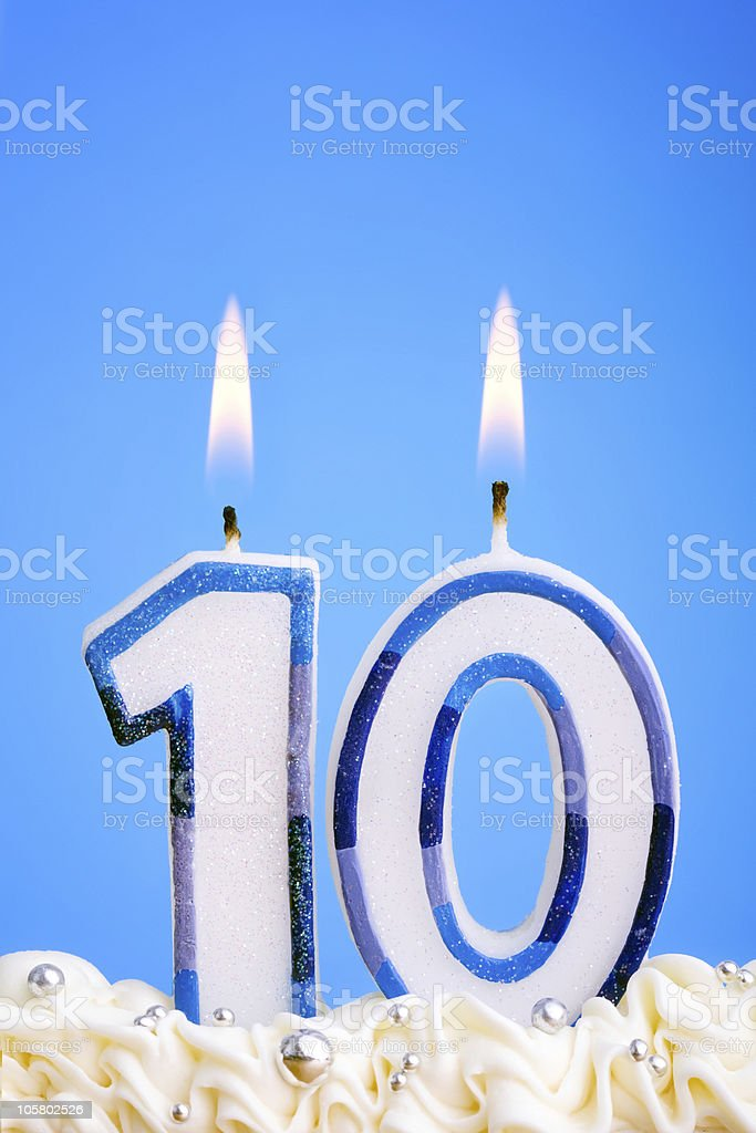Birthday candles royalty-free stock photo