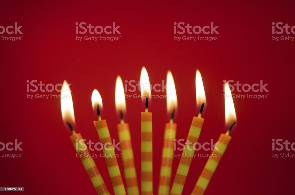 Birthday Candles stock photo