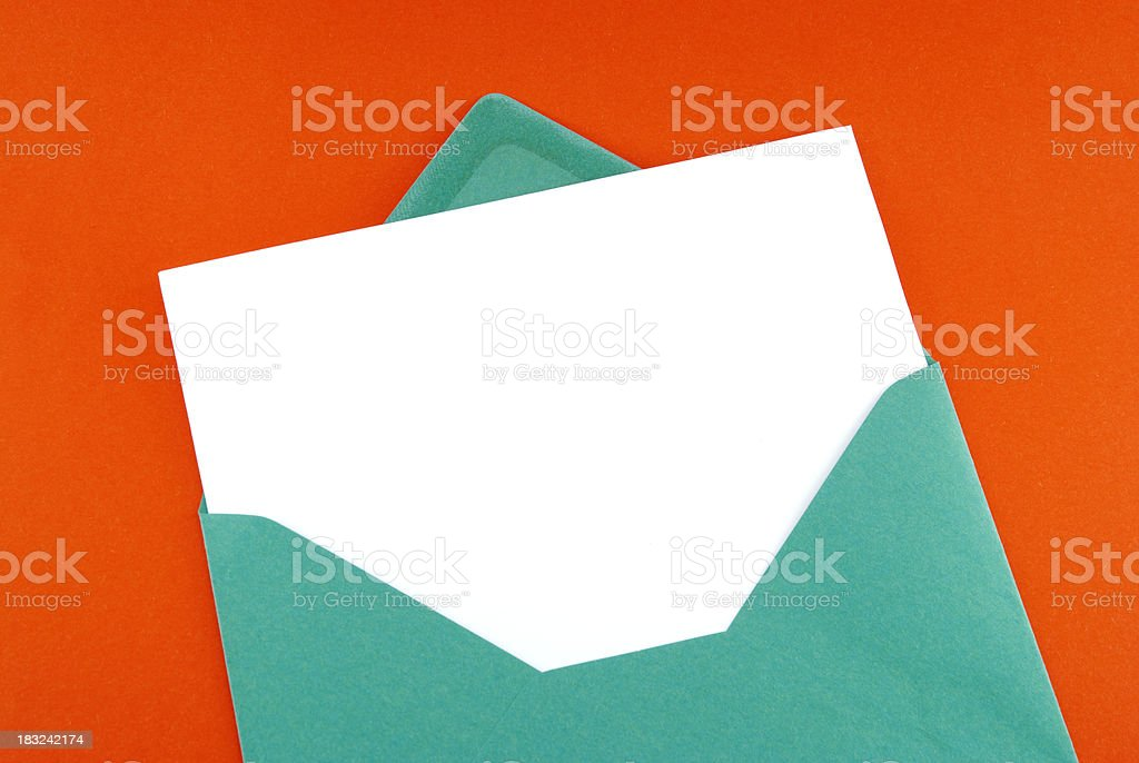Birthday card on red stock photo