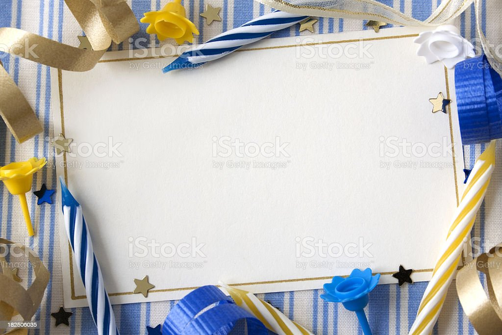 Birthday Card. royalty-free stock photo