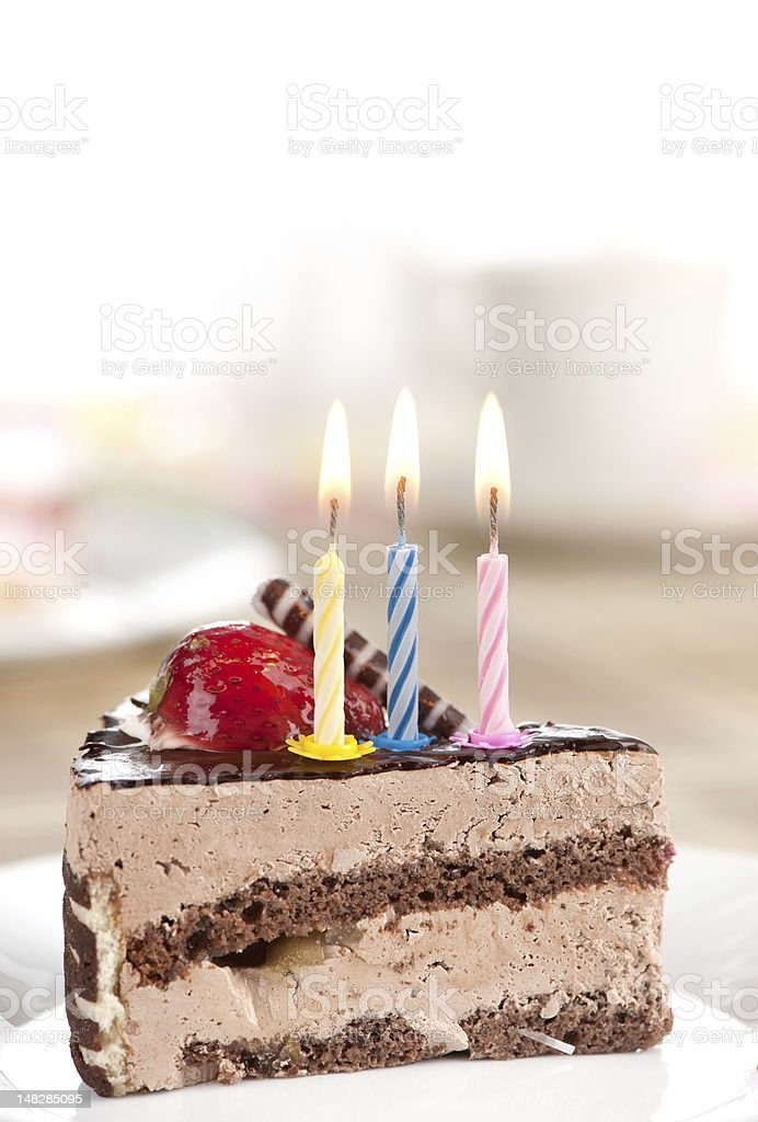 birthday chocolate cake royalty-free stock photo