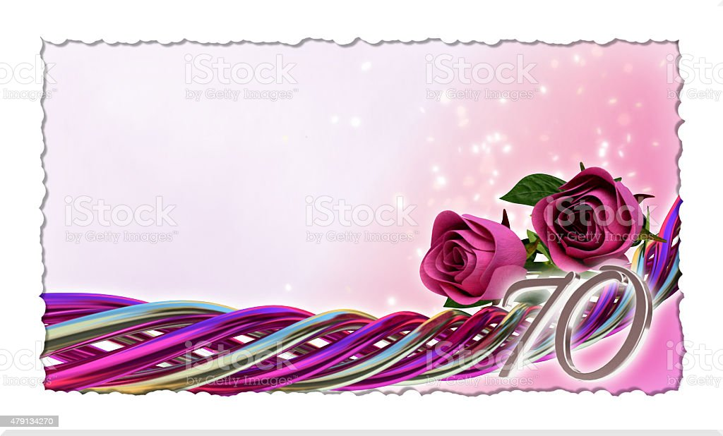birthday concept with pink roses and sparks stock photo