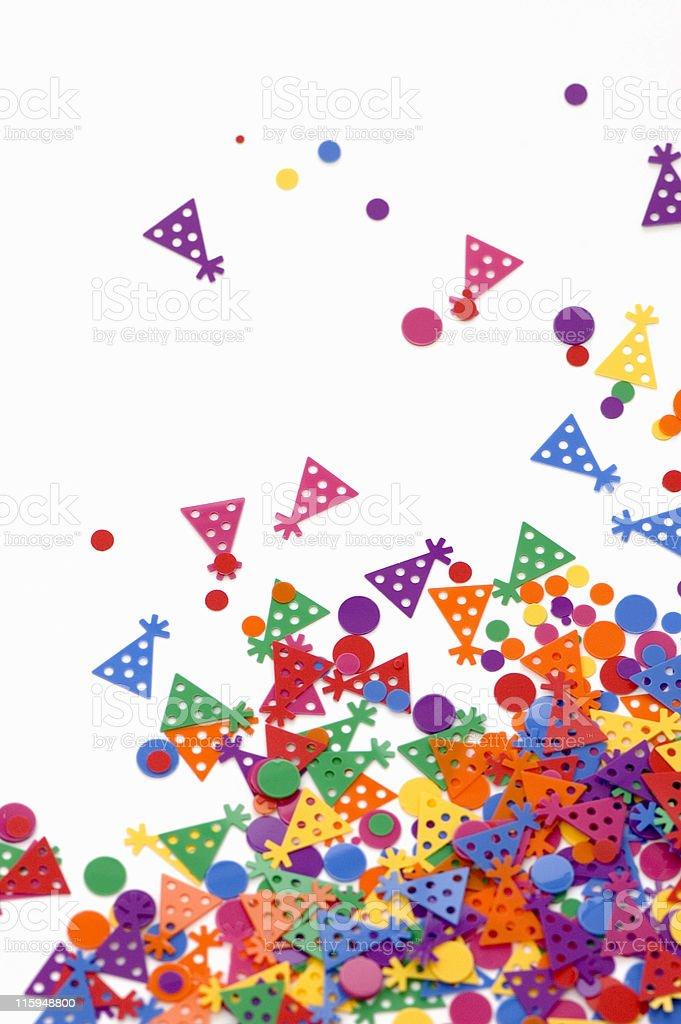 Birthday Confetti royalty-free stock photo