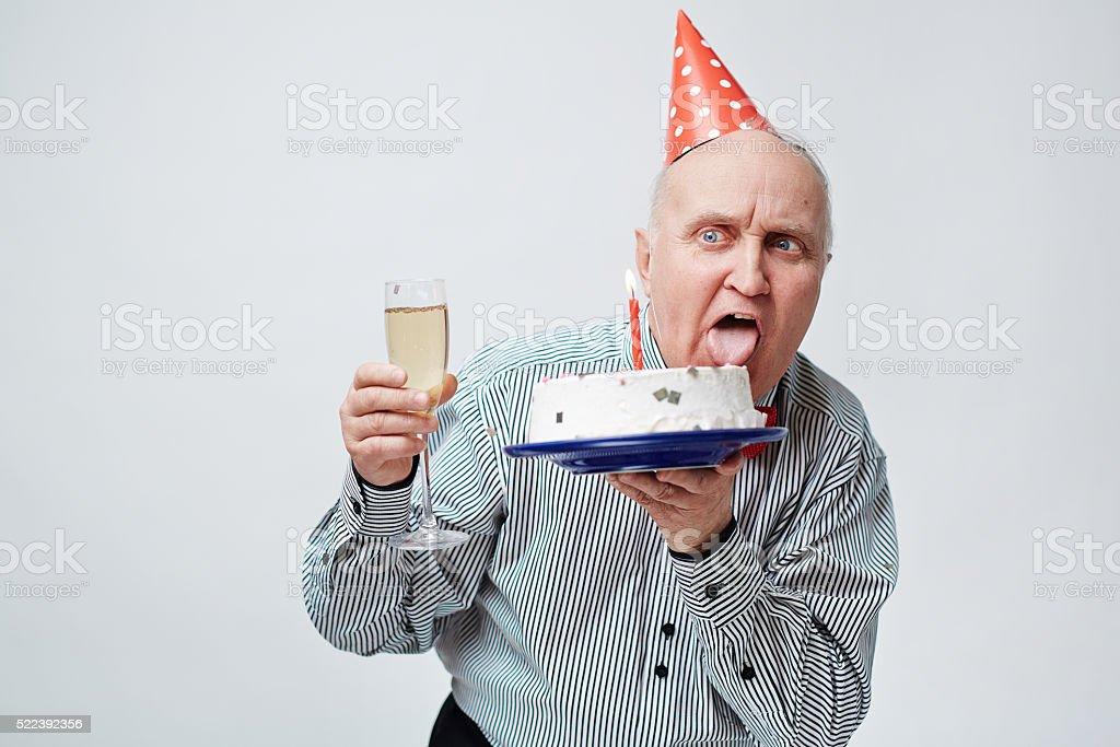 Birthday craze stock photo