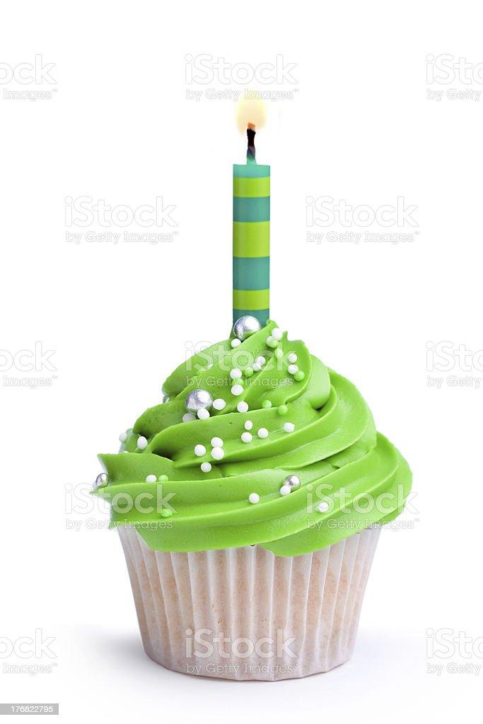 Birthday cupcake royalty-free stock photo